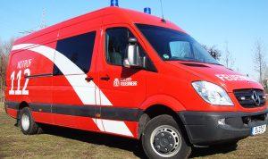 Fahrzeugbeschriftung Berliner Feuerwehr mit reflektierenden Folien von 3M